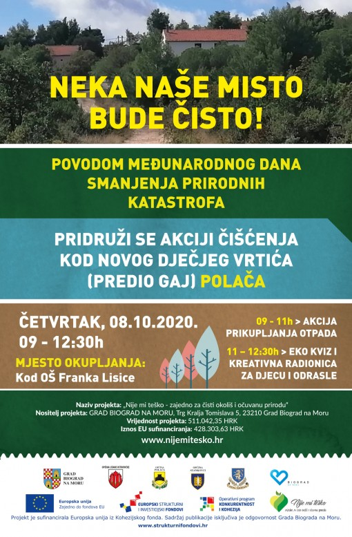 Akcija čišćenja okoliša i radionice za djecu u Polači